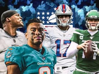 Cam Newton, Josh Allen, Sam Darnold, Tua Tagovailoa, Dolphins, Patriots, Jets, Bills, NFL, AFC East
