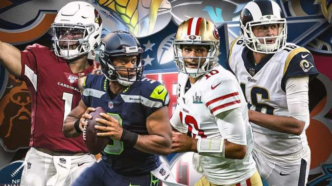 Cardinals, 49ers, Rams, Seahawks, Jimmy Garoppolo, Russell Wilson, Kyler Murray, Jared Goff