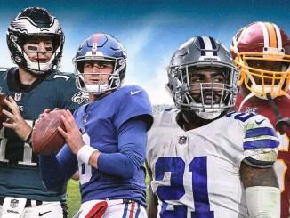 Cowboys, Giants, Washington Football team, Eagles