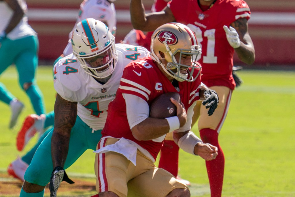 Jimmy Garoppolo, 49ers, Dolphins