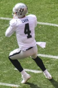 The Raiders used the 36th pick of the 2014 draft to pick QB Derek Carr