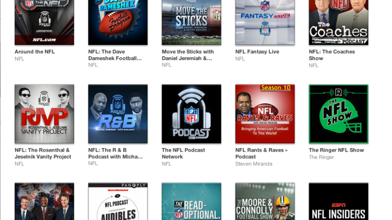 NFLGirlUK's podcast recommendations