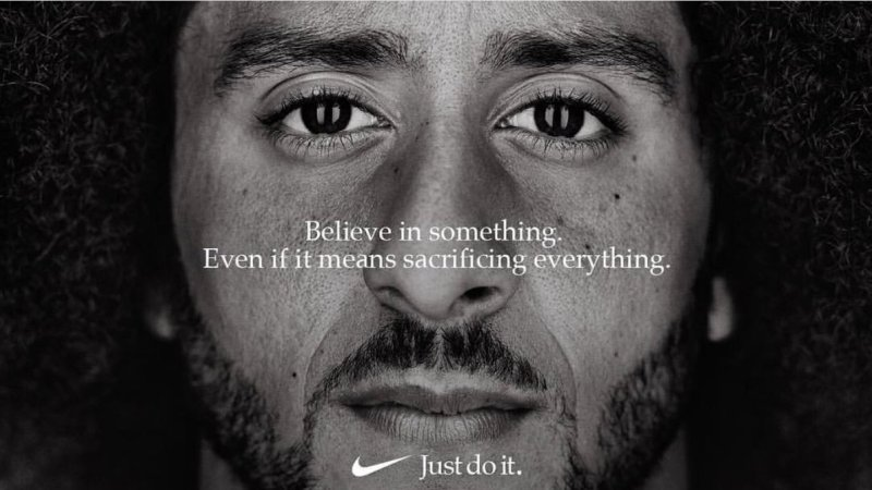 The NFL, Colin Kaepernick and Nike's 'Just Do it' campaign