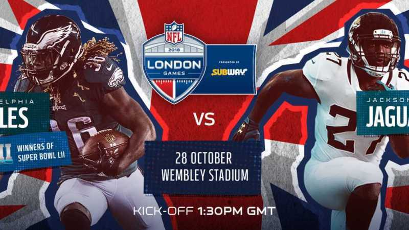 Expired: Win tickets to see Jacksonville Jaguars v Philadelphia Eagles in London