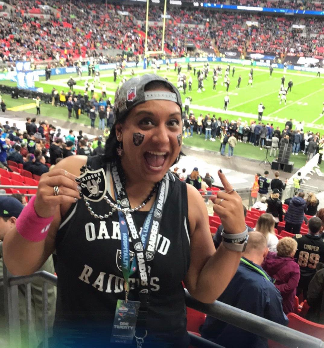 Celebrating female NFL fans in the UK: Introducing Raiders fan, Kimmi.