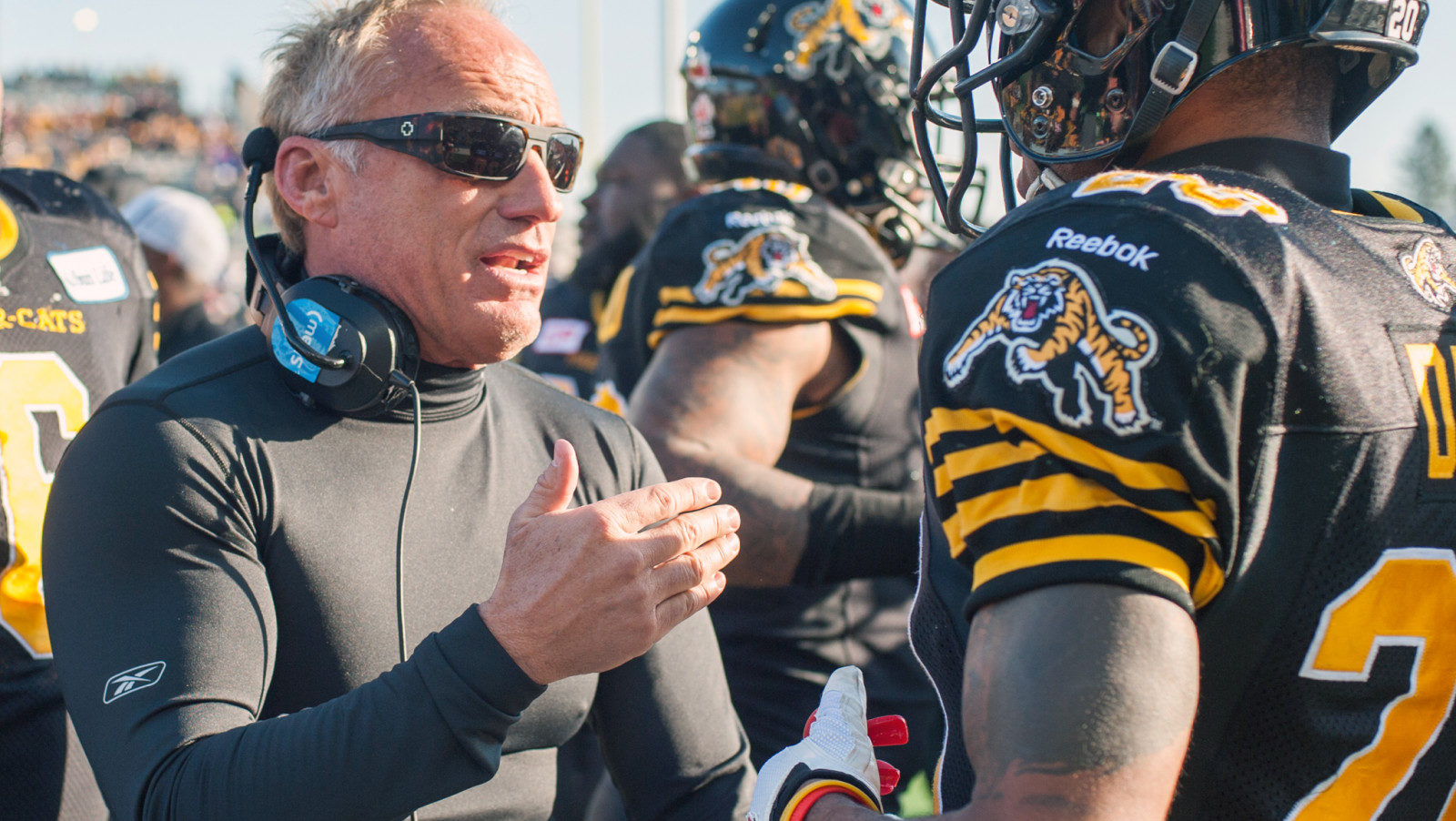 Jeff Reinebold, special teams coordinator for Hamilton Tiger-Cats