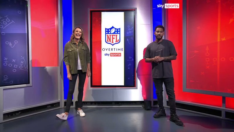 Hannah Wilkes, Presenter of Overtime on Sky Sports NFL