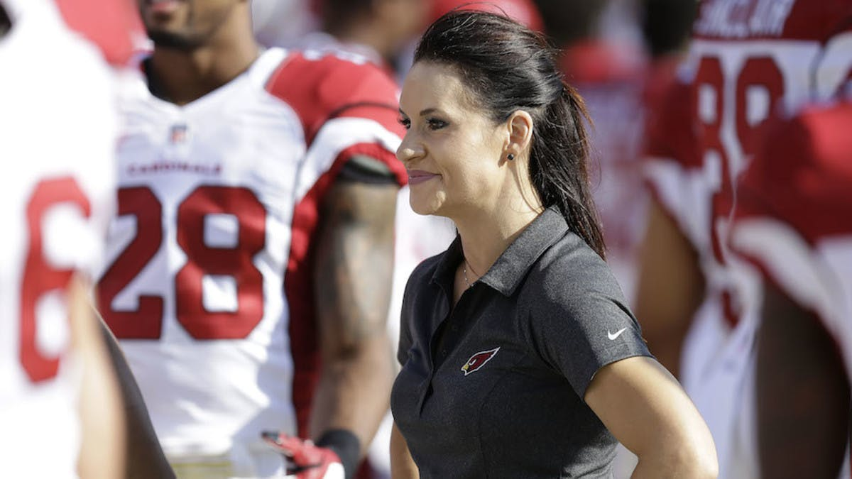Jen Welter, the NFL's first female coach