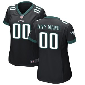 Women's Philadelphia Eagles Nike Black Custom Game Jersey
