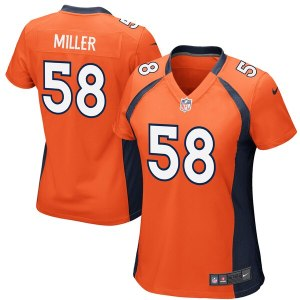 Women's Denver Broncos Von Miller Nike Orange Game Jersey