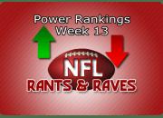 Power Rankings Week13