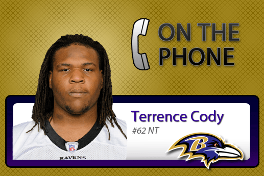 Interview with Ravens NT Terrence Cody – 1.19.2012