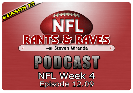 Episode 12.09 – NFL Week 4