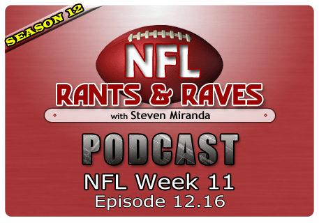Episode 12.16 – NFL Week 11