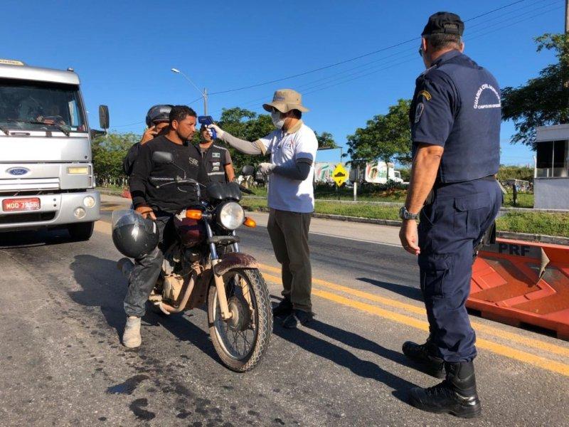 Primeiro dia da barreira sanitária nos acessos a Campos é acompanhado pelo  prefeito - NF Notícias
