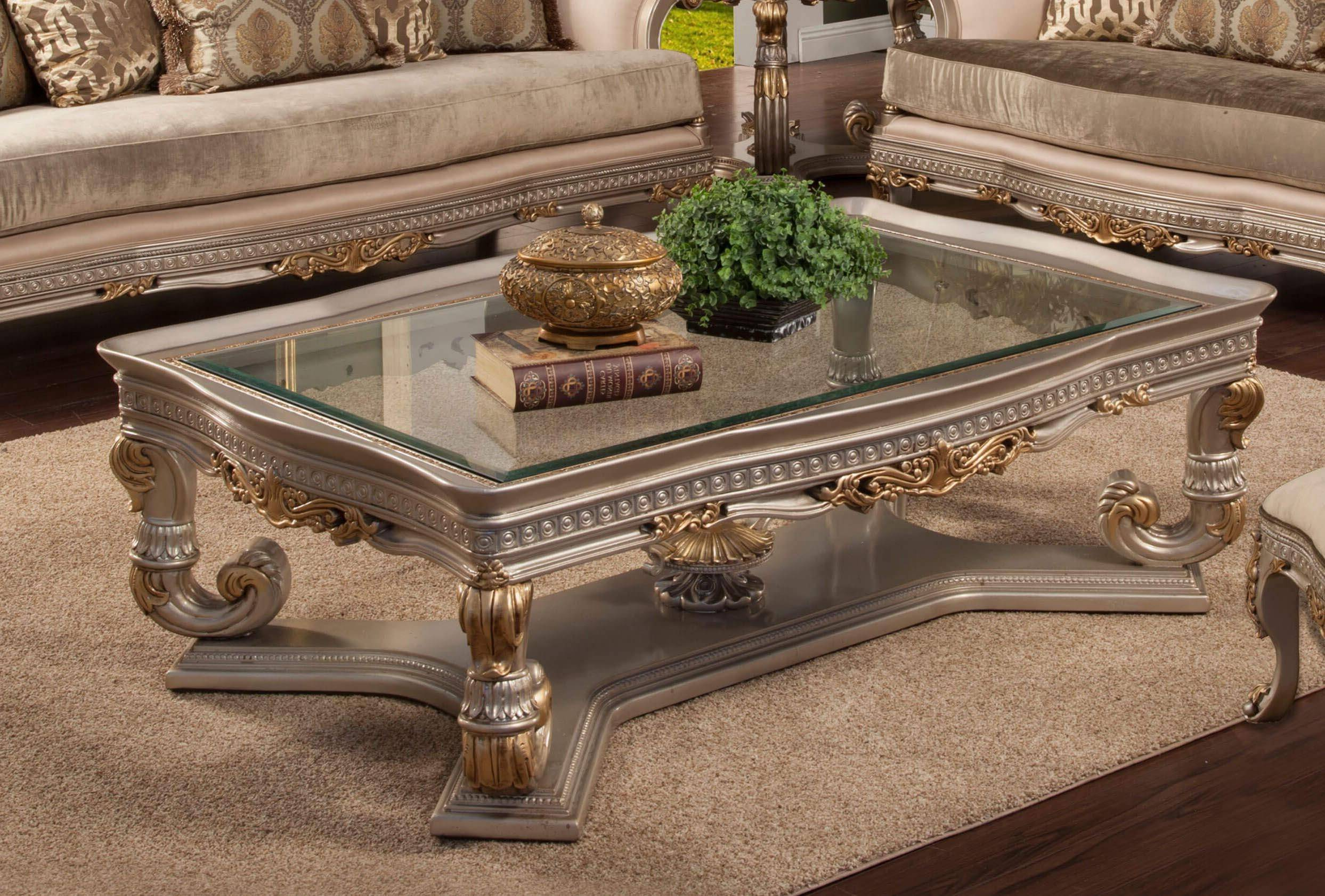 benetti s ornella cocktail table in gold silver light gray glass wood solid hardwood