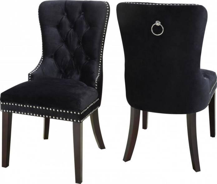 Buy Meridian Nikki 740 Dining Side Chair 4 Pcs In Black Velvet Online