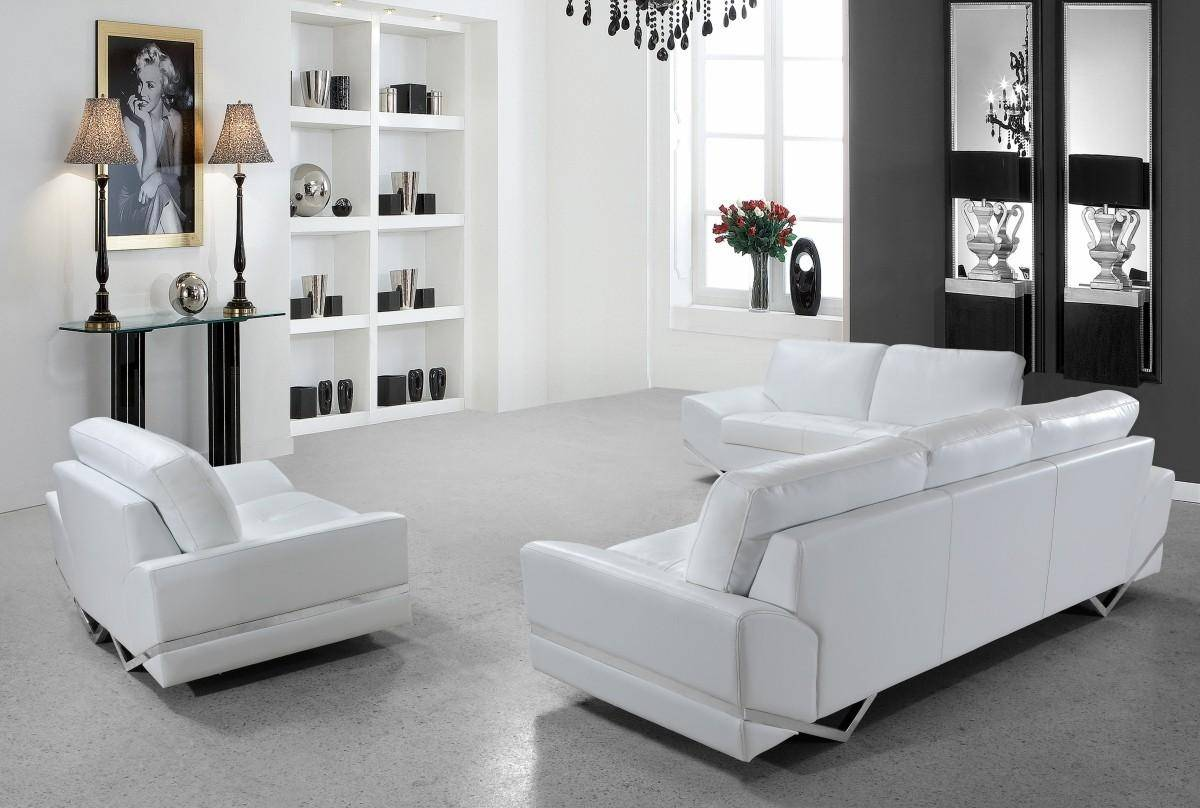 Buy Soflex San Francisco Sofa Set 3 Pcs In White Eco Leather Online