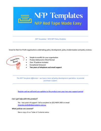 BYO NFP Policy Portfolio Info Sheet - Page 1