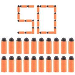 50Pcs Short Bullets with 3.2cm Round Soft Head Ⅲ for Nerf Converted Elite Retaliator - Orange + Black