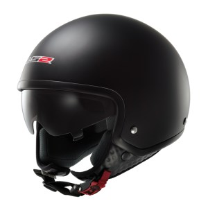 a8727d39 LS2 Wave Matt Black Open Face Scooter Helmet with Drop Down Sun Visor