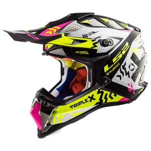 LS2 MX470 Subverter Triplex Black Yellow Pink