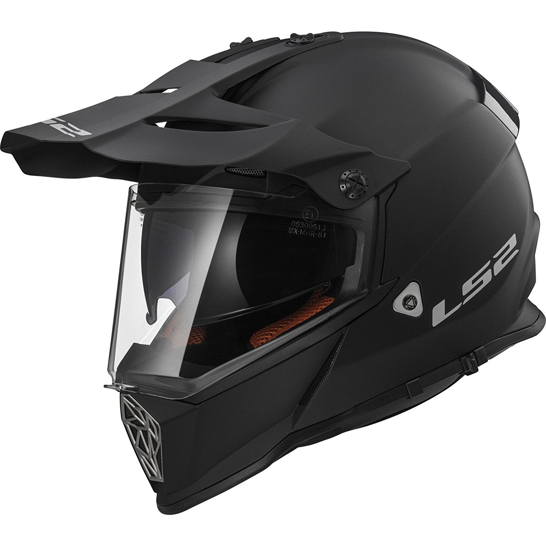 newest authorized site order online LS2 MX436 Matt Black Pioneer Adventure Motorcycle Helmet ...