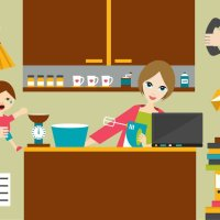 A day in a WFH Mother