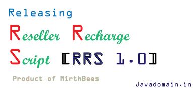 Releasing Reseller Recharge Script 1.0