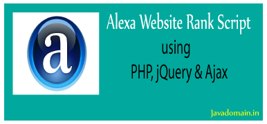 Alexa website rank script using PHP, jQuery, Bootstrap and Ajax