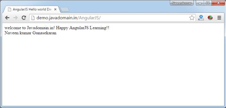 angularjs hello world for dummies output