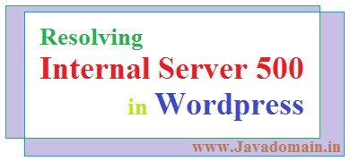 How to resolve internal server error 500 in wordpress
