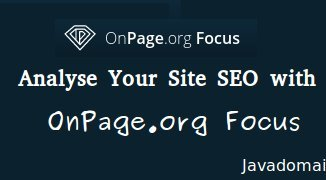 Analyse your site SEO with onpage.org