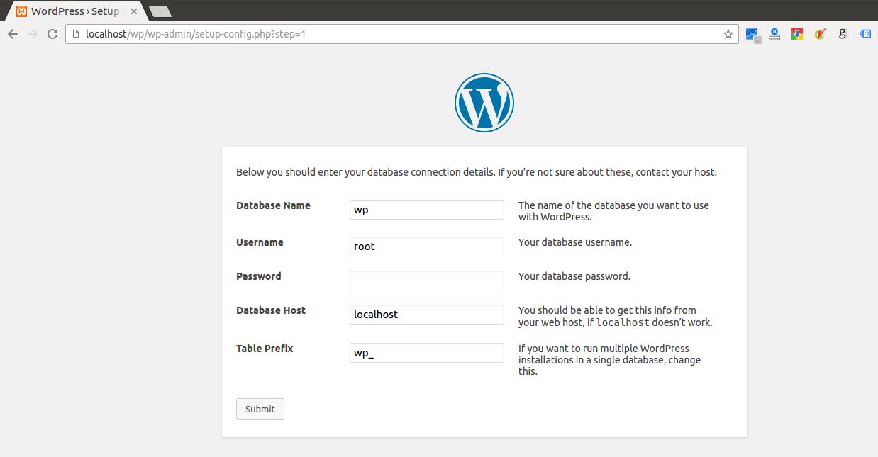 Installing wordpress in Ubuntu step by step