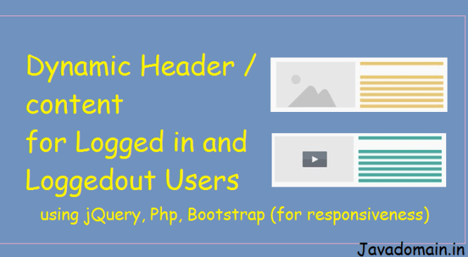 Responsive Dynamic Header using jQuery, PHP & Bootstrap