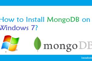 how to install mongodb on windows 7