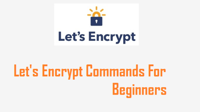 letsencrypt commands for beginners