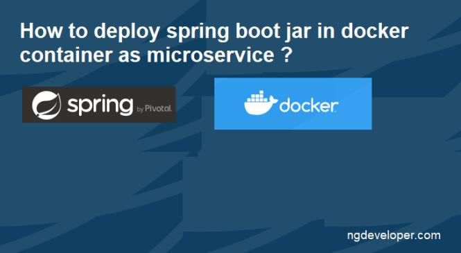 Spring Boot Docker Deployment Steps
