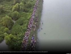 Menyedihkan, Ketika Penderitaan Muslim Rohingya Terekam Kamera Drone!