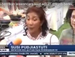 [Video] Menteri Susi Berhenti Bicara Saat Azan Berkumandang