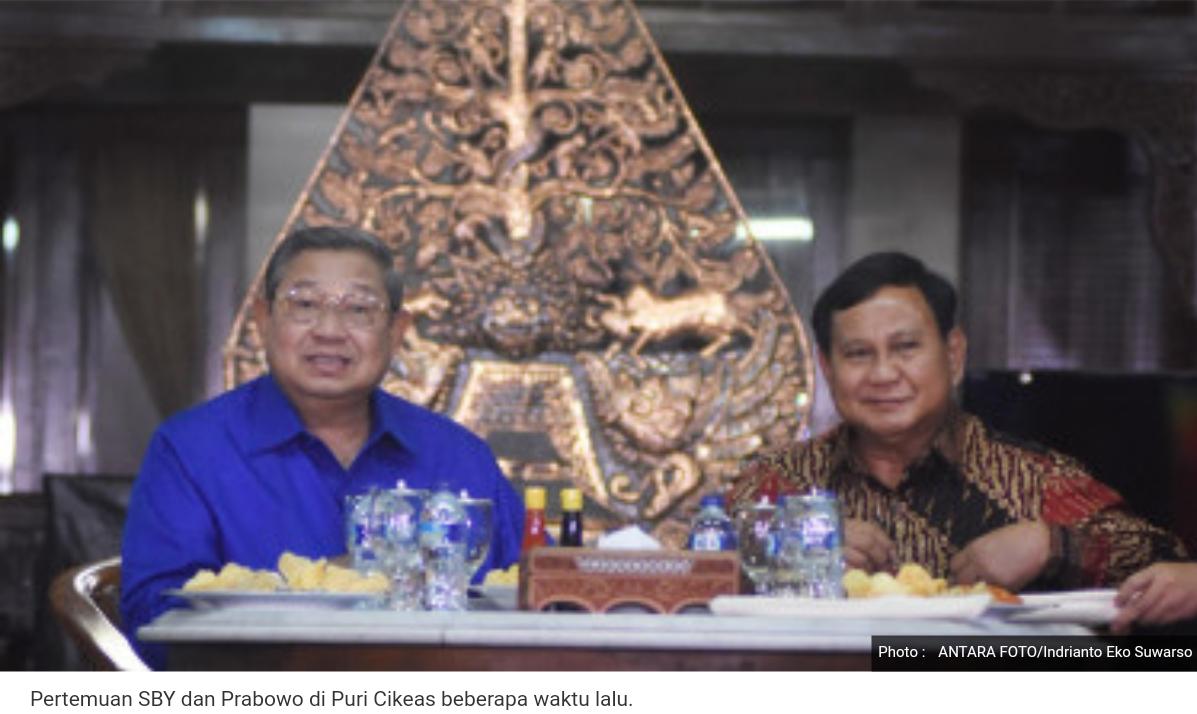 Prabowo dengan SBY