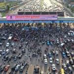 lekki toll gate happening now
