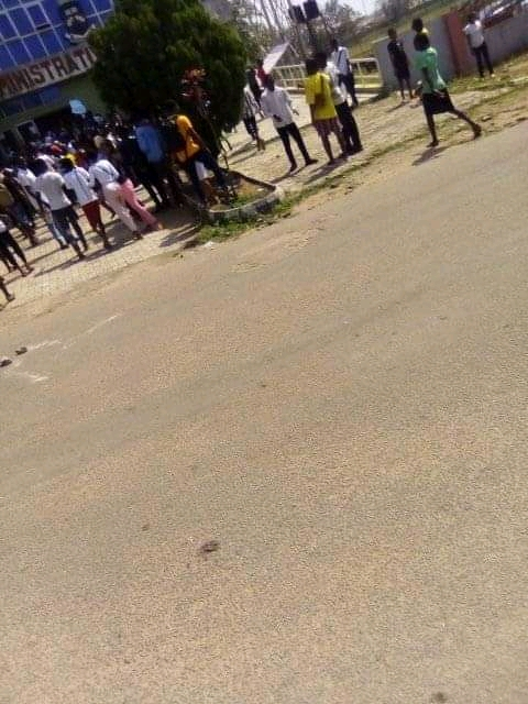 Ede Poly Dual Students Protesting