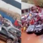 Suspected 'Yahoo Boys In Auchi Polytechnic Spray Money On The Streets As They Celebrate Graduation Video