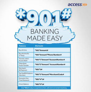 access bank ussd code features x