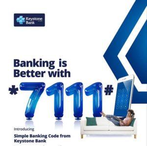 keystone bank ussd code