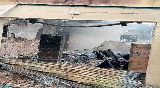 Electoral materials destroyed as hoodlums set INEC office ablaze in Abia