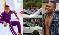 Instagram comedian Oluwadolarz involved in a car accident Video