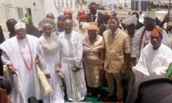 Esther Ajayi New Church Obasanjo Adeboye Ooni in attendance as Esther Ajayi unveils cathedral in Lagos