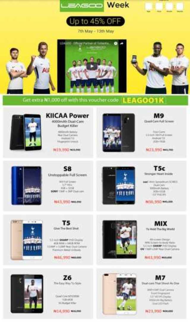 Leagoo smartphones jumia promo